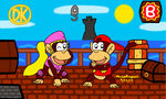 Diddy Kong and Dixie Kong by MarioSimpson1