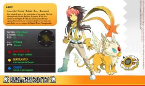 DW Championship 2012: Kyri + Pyrumon by aether-arc