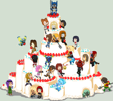 .:Collab:. Cake Tower by Metroid-Tamer