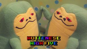Huttenese Plushie High Five by SowCrazy