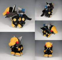 Shadowfox Zoid Plushie by WhittyKitty