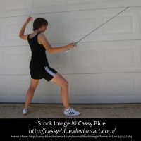 Foil Fencing En Garde Stock 3 by Cassy-Blue