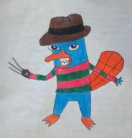 Perry the Platypus: Freddy Krueger version by MissSandman123