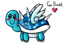 AT: Blue turtle with spikes and wings by lila79