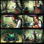 Witch and frog. Magic spell. by sashulka