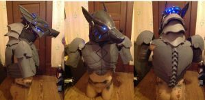 cyber wolf costume so far by joshsmithstudio