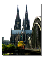 Hohenzollern Bridge and Cologne Cathedral by WillFactorMedia
