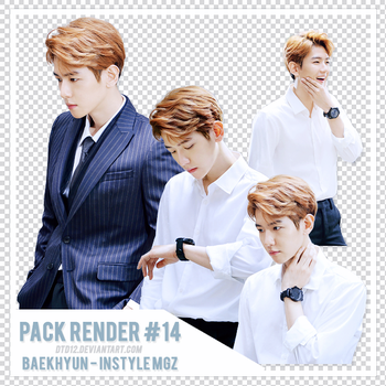 [PACK RENDER #14] BAEKHYUN - IN STYLE MAGAZINE by DTD12