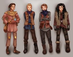 Character Sketches for D-E-M-Emrys by everfae