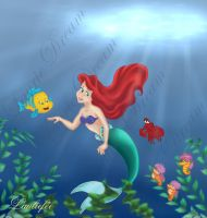 Ariel : the little mermaid by Laurine-Tellier