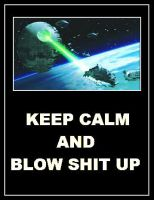 Star Wars - Death Star 'Keep Calm' Poster by DoctorWhoOne