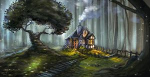 Cottage in the woods by Seamus-Design