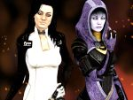 Miranda and Tali by WhiteDevil350