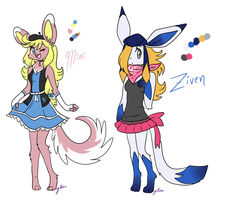 Mimi And Ziven Ref by FENNEKlNS