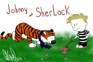 John and Hobbes by ExtremlySelfishChild