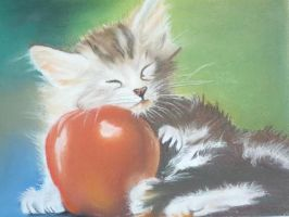 Apple Kitty by Pencilpaints