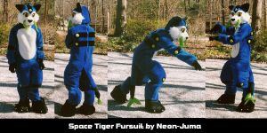 Space tiger fursuit by Neon-Juma