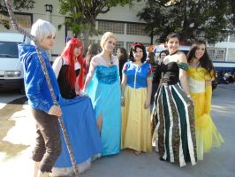 Jack Frost, Elsa and Disney Princes by deixaeutirafoto