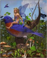 Bluebird of Happiness Faerie by DennisReed
