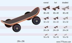 Skateboarding Icon by sport-icons