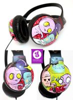 Zombie Walk Headphones by Bobsmade