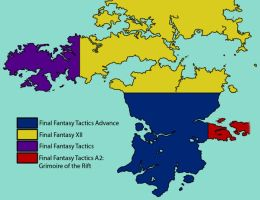 Ivalice Continent Divided by tridaln08
