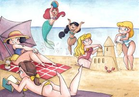 Disney Princesses Commission by mashi