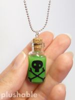 Poison in a bottle necklace 3 by voodoogrl