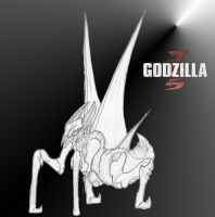 Godzilla 2014 (winged muto) by kamakoa09