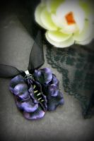 A Dark Rose and her Thorns: Vulva Necklace by VulvaLoveLovely
