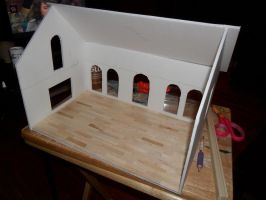 Gothic-ish Dollhouse 1:24 WIP 1 by kayanah