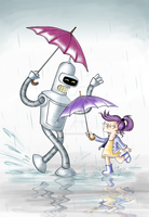 Rainy day by MissFuturama