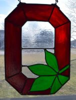 Ohio State University Stained Glass Dark Glass 2 by AutobotWonko