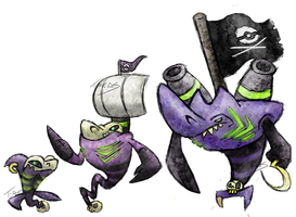 Pirate Shark Fakemon by T-Reqs