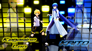 [MMD] Kagamine Len / KAITO by ClearJellyfishy