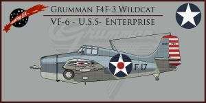 F4F-3 Wildcat VF-6 by Grevinsky79