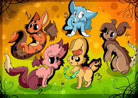 creature adoptables CLOSED by Pettablez