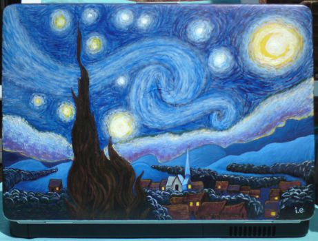 Starry Night Laptop by snowflakeinthesea