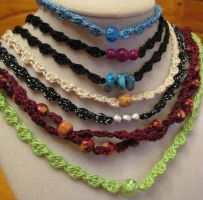 Matching Crochet Necklaces Listed Today by doilydeas