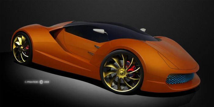 Chrysalis Supercar front view by colorzeppelin
