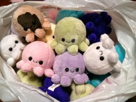 San Japan octopus plushies by Love-Who