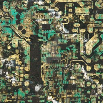 Electronic Chip Texture Urban Blue by TRedCaptain