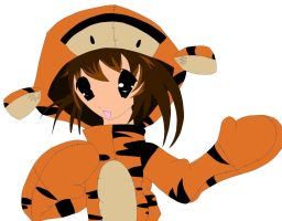 manga girl in tigger suit-2 by mor4674j