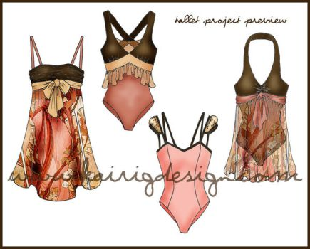 Preview of my Ballet outfits by kairi-g