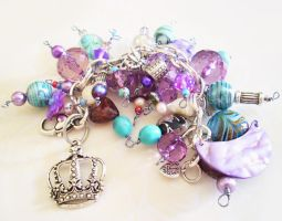 Chunky Blue and Purple Bracelet by Shembre