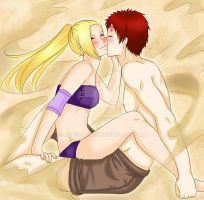Commission: Ino and Gaara by manu-chann
