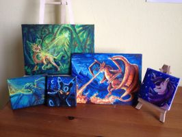 Original Paintings (Q-con/sale) by Taluns