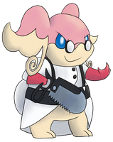 Medic the Audino by SillyEwe
