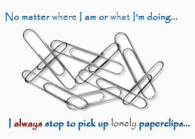 Lonely Paperclips by PostSecrets