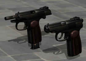Makarov - Rigged with In-Game Bones by ProgammerNetwork